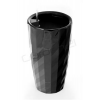 G21 önöntöző kaspó Diamant 33 cm, fekete