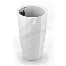 G21 önöntöző kaspó Diamant 33 cm, fehér kerti tárolás