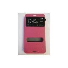 Pudini View oldalra nyíló hívásmutatós támasztós tok érdes bőrbevonattal Sony D5803, D5833 Xperia Z3 Compact-hoz pink* tok és táska