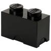 LEGO 1x2 tárolódoboz fekete (40021733)