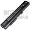 MSI CX640MX Series 4400 mAh 6 cella fekete notebook/laptop akku/akkumulátor utángyártott