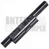 X93SM Series 4400 mAh 6 cella fekete notebook/laptop akku/akkumulátor utángyártott