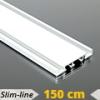 Alumínium függönysín (fehér) - 2 sor - 150 cm