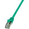 RJ45 Hálózati csatlakozókábel, CAT 5e F/UTP [1x RJ45 dugó - 1x RJ45 dugó] 7,5 m, zöld LogiLink