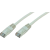 RJ45 Hálózati csatlakozókábel, CAT 5e SF/UTP [1x RJ45 dugó - 1x RJ45 dugó] 0,5 m, szürke Goobay