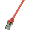 RJ45 Hálózati csatlakozókábel, CAT 6 F/UTP [1x RJ45 dugó - 1x RJ45 dugó] 3 m, piros LogiLink