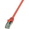 RJ45 Hálózati csatlakozókábel, CAT 5e F/UTP [1x RJ45 dugó - 1x RJ45 dugó] 7,5 m, piros LogiLink