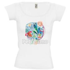 Petissimo tavaszi női póló - fehér S női póló