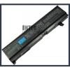 Toshiba Satellite M105-S1000 Series 4400 mAh 6 cella fekete notebook/laptop akku/akkumulátor utángyártott