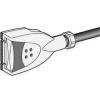 Schneider Electric 10 a-es leágazó dugaszolóelem - Tokozott síncsatorna-canalis kba - Canalis - KBC10DCC21Z - Schneider Electric