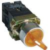 Tracon Electric Világítókaros kapcsoló, fémalap, sárga, LED, kétállású - 1xNC+1xNO, 3A/400V AC, IP42 NYGBK2565S - Tracon