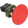 Tracon Electric Tokozott reteszelt gombafejű vészgomb, piros, elfordítással - 1xNC, 3A/400V AC, IP44, d=30mm NYG442P30T - Tracon