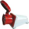 Tracon Electric Felületre szerelhető ipari csatlakozóaljzat - 63A, 400V, 3P+E, IP67 TICS-134 - Tracon