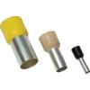 Tracon Electric Szigetelt (PA6.6) érvéghüvely, ónozott elektrolitréz, sárga - 1mm2, L=16,84mm E100 - Tracon