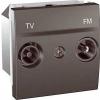 Schneider Electric UNICA TOP TV-FM aljzat IP20 Grafit MGU3.451.12 - Schneider Electric
