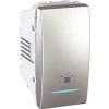 Schneider Electric UNICA TOP Jelzőfényes nyomógomb Világítás jelzéssel 10 A IP20 Alumínium MGU3.106.30LN - Schneider Electric