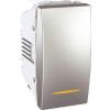 Schneider Electric UNICA TOP Váltókapcsoló jellenőrzőfénnyel 10 A IP20 Alumínium MGU3.103.30S - Schneider Electric
