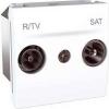 Schneider Electric UNICA ALLEGRO TV-R-SAT aljzat IP20 Fehér MGU3.454.18 - Schneider Electric