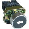 Tracon Electric Jelölt nyomógomb, fémalapra szerelt, fekete, (fehér nyíl) - 1xNO, 3A/240V AC, IP42 NYGBA3351 - Tracon