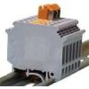 Tracon Electric Szakaszolható ipari sorozatkapocs, csavaros, sínre, szürke - 0,2-4mm2, 500V, 16A TSKA4LEV - Tracon