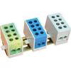 Tracon Electric Főáramköri leágazó kapocs, sínre szerelhető, kék - 1x35+1x25mm2/1x35+1x25mm2, 500V, 125A FLE-3525K - Tracon