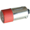 Tracon Electric LED-es jelzőizzó, piros - 400V AC/DC, Ba9s NYGL-AC400R - Tracon