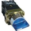 Tracon Electric Világítókaros kapcsoló, fémalap, kék, LED, háromállású - 1xNC+1xNO, 3A/400V AC, IP42 NYGBK3665K - Tracon