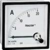 Tracon Electric Analóg egyenáramú ampermérő közvetlen méréshez - 72x72mm, 20mA DC DCAM72-0_02 - Tracon