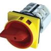 Tracon Electric Tokozott főkapcsoló, lakatolható, sárga fedéllel, BE-KI - 400V, 50Hz, 25A, 4P, 7,5kW, 48x48mm, IP44 TKFL-25T - Tracon
