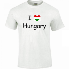 Tréfás póló I love Hungary (S)