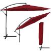 3,5 m átmérőjű napernyő védőhuzattal bordó