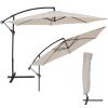 3,5 m átmérőjű napernyő védőhuzattal bézs