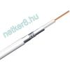 RG-6U TRI-SHIELDED fehér CCS kábel