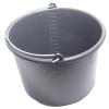 Habarcsos vödör; 12 liter,fekete műanyag (Vödör)