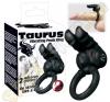 YOU2TOYS Taurus duplanyelves péniszgyűrű - fekete péniszgyűrű