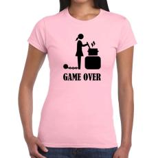 Tréfás póló Game Over csajoknak új (M)