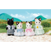 Epoch Sylvanian Foltos cica család