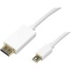 LogiLink Displayport mini <-> HDMI M/M video jelkábel 2m fehér CV0056
