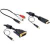 DELOCK Cable DVI - HDMI + Sound male-male 3 m (84456)
