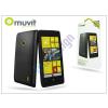 Nokia Nokia Lumia 520/525 hátlap - Muvit miniGel Glazy - black