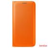 Samsung Galaxy S6 bőr book cover,Narancs