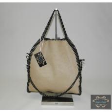 Láncos mogyoró-fekete táska