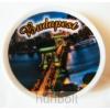 Hunbolt Porcelán tányérka hűtőmágnes- Lánchíd (éjszaka)
