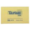 TARTAN Öntapadó jegyzettömb, 127x76 mm, 100 lap, TARTAN, sárga (12db)