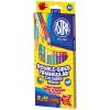 Astra Astra: háromszögletű színes ceruza - 12 darabos készlet, 24 színnel, hegyezővel