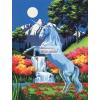 Royal & Langnickel Kifestő készlet vászonra, akrilfestékkel, ecsettel, gyerekeknek 8 éves kortól - 23x30 cm - Unikornis