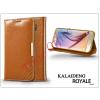 Kalaideng Samsung SM-G920 Galaxy S6 flipes tok kártyatartóval - Kalaideng Royale II Series - brown