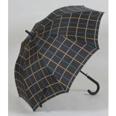 Skótkockás divat esernyő sárga csíkkal