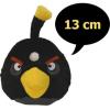 Plüss Angry Birds, hangot ad, 13 cm, fekete