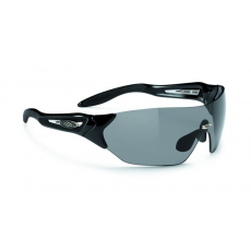Rudy Project Hypermask Black Gloss - Black Smoke lencsével